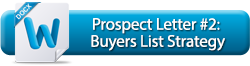 Prospect Letter #2: Buyers List Strategy